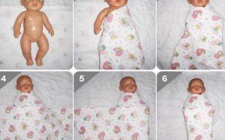 Как пеленать новорожденного ребёнка