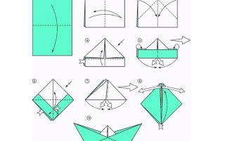 Как сделать кораблик из бумаги. пошаговая инструкция с фото для начинающих