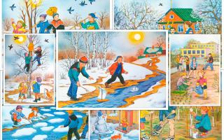 Игры весной для детей подготовительной группы (6-7 лет) в детском саду