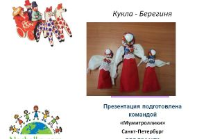 Конспект занятия кружка в начальной школе. кукла — берегиня