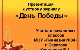 Устный журнал к 9 мая. начальная школа. битва под москвой