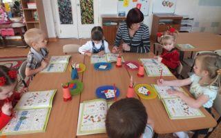 Конспект занятия для детей младшей группы в детском саду