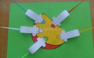 Аппликация своими руками для детей дошкольного возраста. мышка