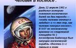 Внеклассное мероприятие «день космонавтики», 9 класс