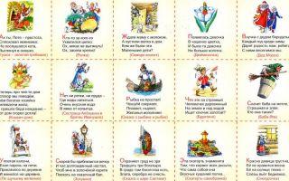 Загадки о сказочных героях для детей с ответами для дошкольников