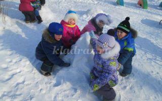 Зимний спортивный праздник на улице в средней группе в детском саду, сценарий