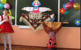 Праздник на масленицу для детей 1 класса