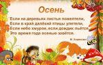 Стихи про осень для младших школьников