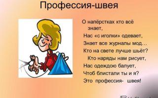 Детям о профессии портной