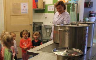 Конспект занятия экскурсии на кухню в 1 младшей группе
