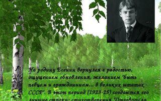 Есенин «о родина!»