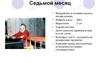 Что должен уметь ребёнок в 7 месяцев