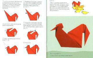 Как сделать петушка из бумаги в технике оригами своими руками с детьми