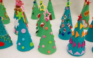 Простые новогодние поделки для детей