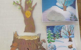 Занятие в средней группе «как звери готовятся к зиме»