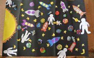 Конспект занятия ко дню космонавтики в старшей группе