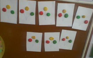 Конспект занятия по лепке во второй младшей группе доу