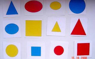 Конспект занятия для детей 1-2 лет. красный и синий цвет