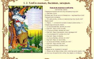 Сказка «как волк вздумал хлеб печь»