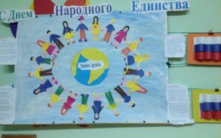 Беседа на тему «день народного единства» в подготовительной группе