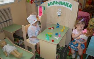 Сюжетно – ролевые игры в больницу в младшей группе