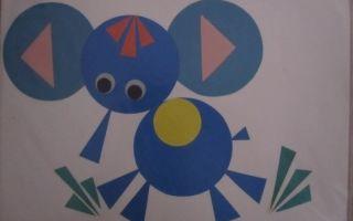 Аппликация из геометрических фигур для детей 3-5 лет. шаблоны. мастер-класс с фото