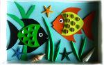 Объёмная аппликация из бумаги для детей 5-7 лет «рыбка». шаблоны. мастер-класс с пошаговыми фото