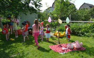 Детский день рождения на природе. поиск клада