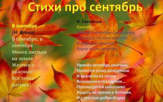 Стихи про сентябрь для детей 6-7 лет