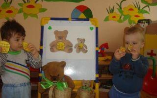 Конспект занятия в группе раннего возраста на тему: медведь