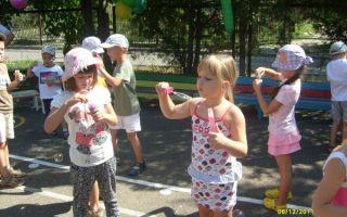 Игры летом на улице в детском саду для детей 3-7 лет
