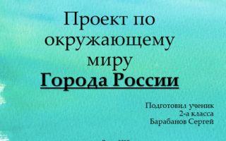 Конспект урока по окружающему миру, 2 класс. проект «города россии»