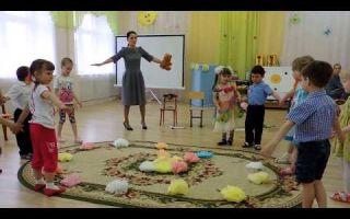 Музыкальное занятие в средней группе детского сада