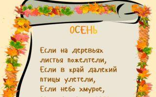 Стихи об осени для детей 6-7 лет