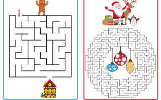 Новогодние задания для детей 4, 5, 6 лет