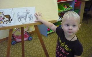 Конспект занятия в группе раннего возраста. коза и козлёнок