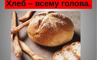 Внеклассное мероприятие в 1 классе на тему: хлеб – всему голова