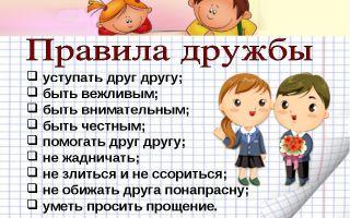 Классный час о дружбе для младших школьников