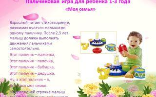 Пальчиковые игры для детей 1-3 лет