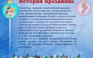 Конспект беседы о празднике новый год для детей начальной школы
