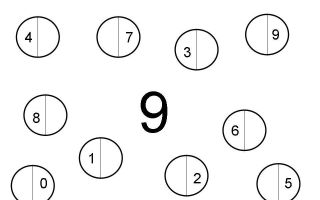Конспект нод по математике в подготовительной группе. состав числа 9