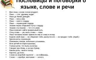 Пословицы и поговорки про язык