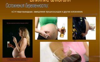 Влияние вредных привычек на беременность