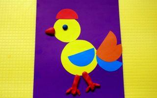 Геометрическая аппликация для детей от 3 лет «петушок». шаблоны. мастер-класс с пошаговыми фото