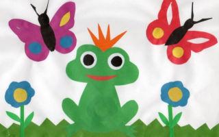 Аппликации своими руками для детей дошкольного возраста. лягушонок