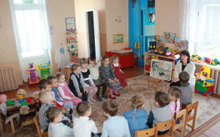 Конспект занятия в средней группе на тему «детский сад»