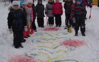 Зимнее развлечение в подготовительной группе в детском саду