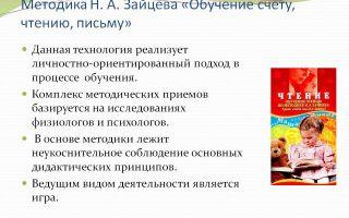 Обучение детей чтению с помощью пособий николая зайцева