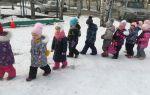Зимнее развлечение в средней группе детского сада