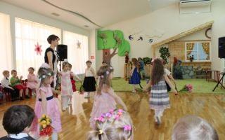 Весеннее развлечение в детском саду в средней группе